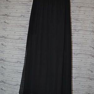 XS F21 Maxi Skirt with Mini Under Skirt